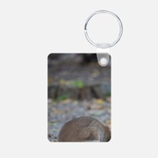 Wallaby eating tasty piece Keychains