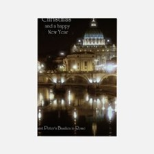 (5x7) St Peters across the Tiber  Rectangle Magnet
