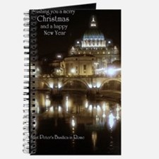 (5x7) St Peters across the Tiber at night Journal