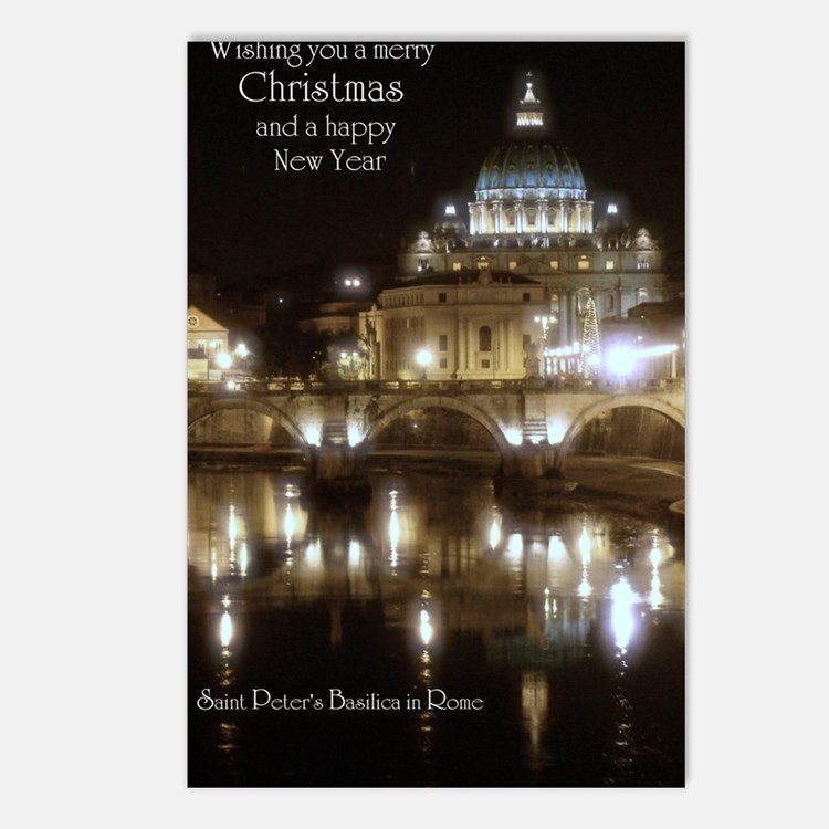 (5x7) St Peters across th Postcards (Package of 8)