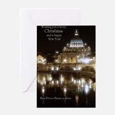 (5x7) St Peters across the Tiber at  Greeting Card