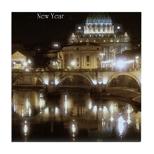 (5x7) St Peters across the Tiber at n Tile Coaster