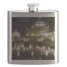 (5x7) St Peters across the Tiber at night Flask