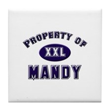 Property of mandy Tile Coaster