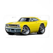 1970 Roadrunner Yellow Car Aluminum License Plate
