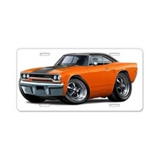 1970 Roadrunner Orange-Blac Aluminum License Plate