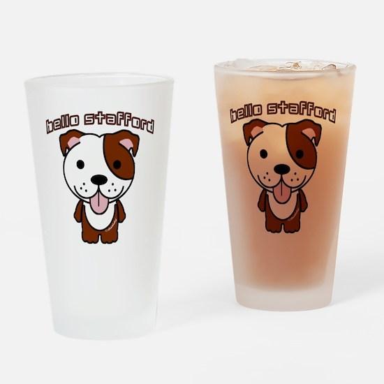 Hello Stafford3 copy Drinking Glass