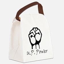 Blk_U.P._Power_Fist.gif Canvas Lunch Bag