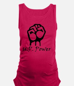 Blk_U.P._Power_Fist.gif Maternity Tank Top