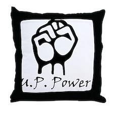 Blk_U.P._Power_Fist.gif Throw Pillow