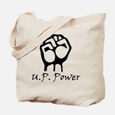 Blk_U.P._Power_Fist.gif Tote Bag