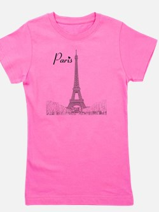 EiffelTower_10x10_apparel_BlackOutline Girl's Tee
