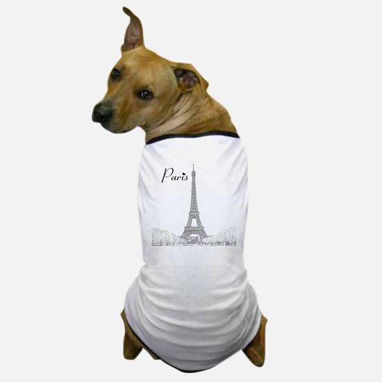 EiffelTower_10x10_apparel_BlackOutline Dog T-Shirt