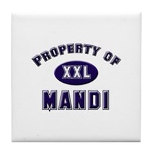 Property of mandi Tile Coaster