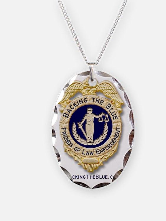 Large Fan Badge Necklace