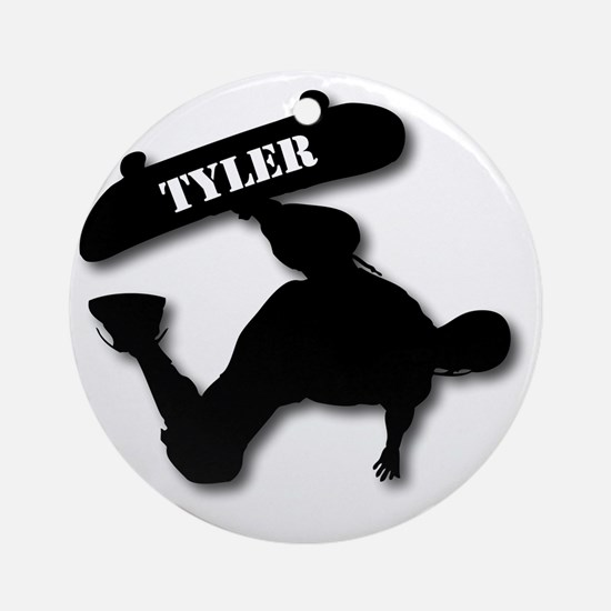 Sk8-T-10x10-TYLER-B Round Ornament