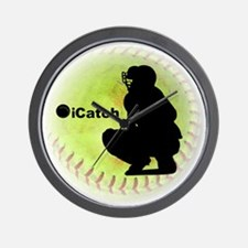 iCatch Fastpitch Softball Wall Clock