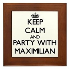 Keep Calm and Party with Maximilian Framed Tile