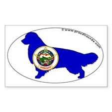 Minnesota State Flag Golden Re Decal