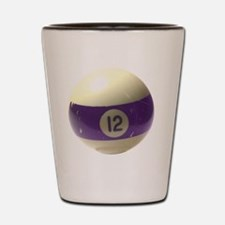 12 ball ornament Shot Glass