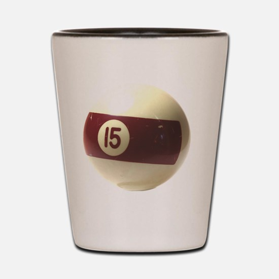 15 ball ornament Shot Glass