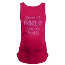 princess burp copy Maternity Tank Top