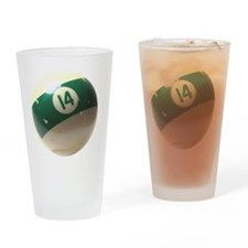 14 ball ornament Drinking Glass