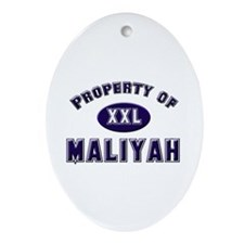 Property of maliyah Oval Ornament