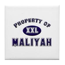 Property of maliyah Tile Coaster
