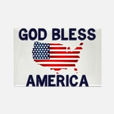 God-Bless-America-2-(white-shirt) Rectangle Magnet