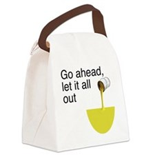 let_it_all_out_4white Canvas Lunch Bag