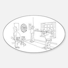 Trombone Darts Oval Decal