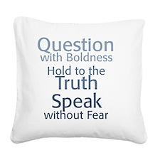 08-13_shirt-beck23 Square Canvas Pillow