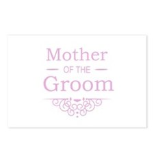 Mother of the Groom pink Postcards (Package of 8)