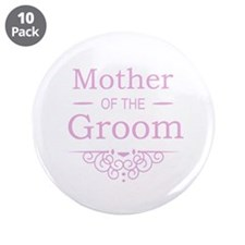 """Mother of the Groom pink 3.5"""" Button (10 pack)"""