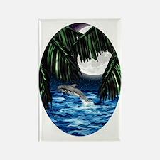 Moonlit Paradise ornament_oval Rectangle Magnet