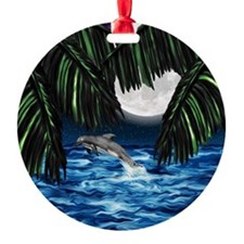 Moonlit Paradise tile box Ornament