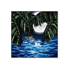 """Moonlit Paradise tile box Square Sticker 3"""" x 3"""""""