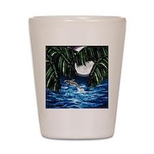 Moonlit Paradise tile box Shot Glass