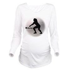 ibump Volleyball Long Sleeve Maternity T-Shirt