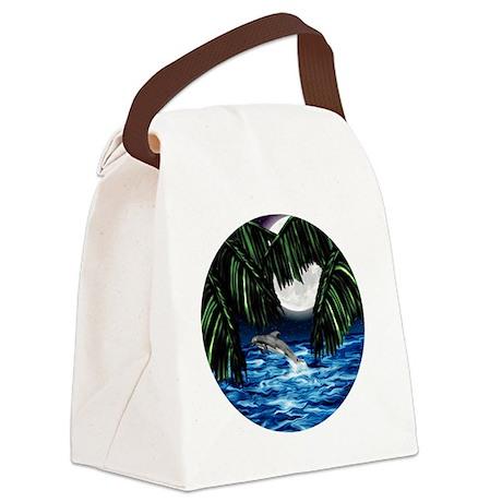 Moonlit Paradise ornament Canvas Lunch Bag