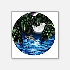 "Moonlit Paradise ornament Square Sticker 3"" x 3"""
