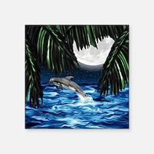 "Moonlit Paradise-mpad Square Sticker 3"" x 3"""