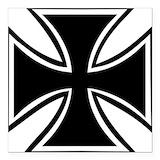Iron cross Square Car Magnets