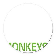 livemonkey2 Round Car Magnet
