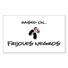 Raised on... Frijoles Negros Rectangle Decal