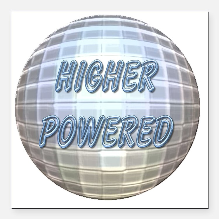 """Higher Powered Square Car Magnet 3"""" x 3"""""""