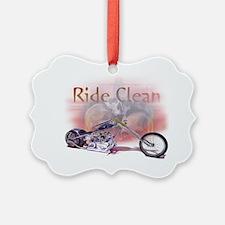 Ride Clean Ornament