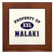 Property of malaki Framed Tile