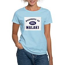 Property of malaki Women's Pink T-Shirt